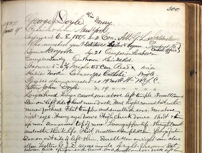 Dorsey Doyle prison record