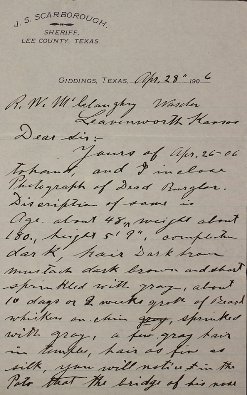 Scarborough letter