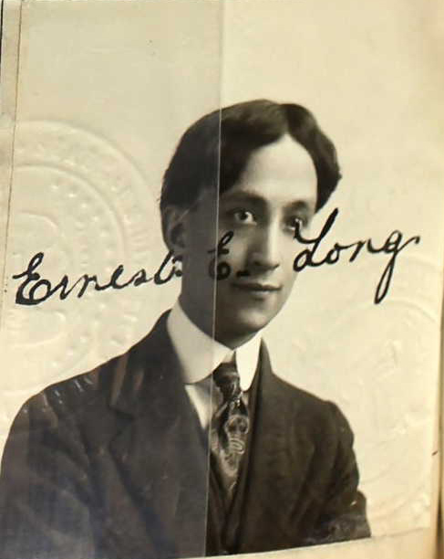 Ernest Long passport photo