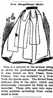 Shoplifter skirt illus. - Newspapers.com